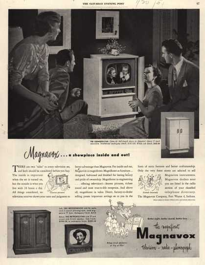 Magnavox Company&#8217;s Television &#8211; Magnavox... a showpiece inside and out (1951)