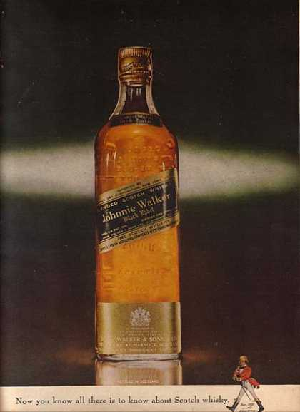 Johnnie Walker's Black Label Scotch Whiskey (1963)