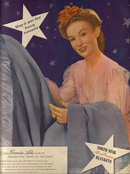 North Star All Wool Beauty Nap Blankets – Veronica Lake (1944)