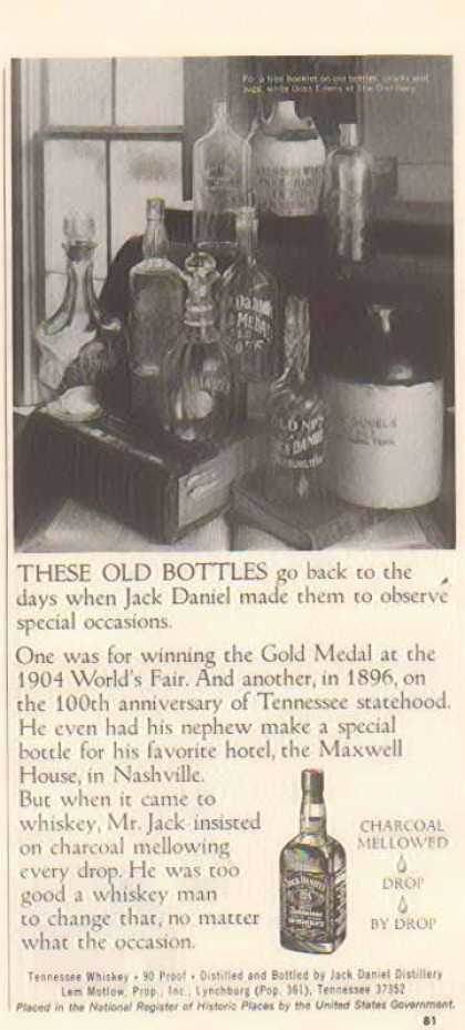 Jack Daniel's – These Old Bottles – Sold (1977)