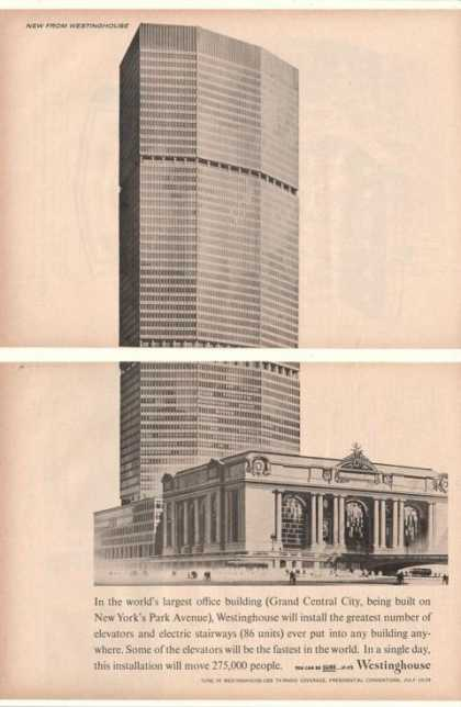 '60 Grand Central City Bldg Park Ave NY Westinghouse (1960)