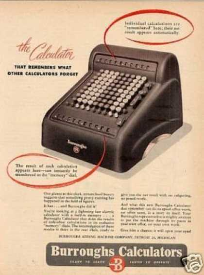 Burroughs Calculator (1948)