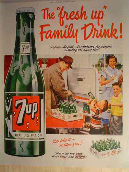 "7 UP ""The Fresh Up family Drink"" (1952)"