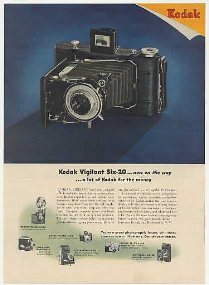 Kodak Vigilant Six-20 Folding Camera (1946)