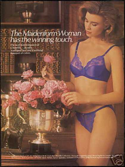 Pretty Woman Maidenform Lingerie Bra Photo (1986)