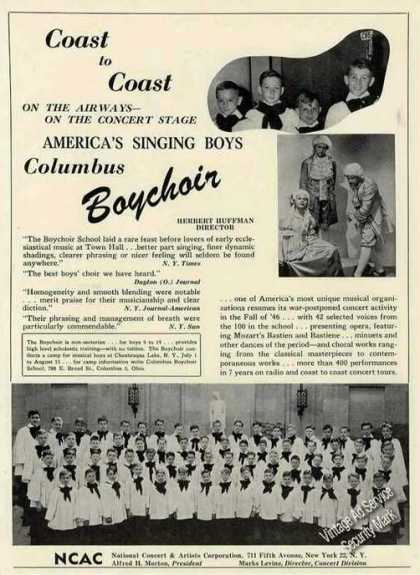 Columbus Boychoir Photo Rare Booking (1946)