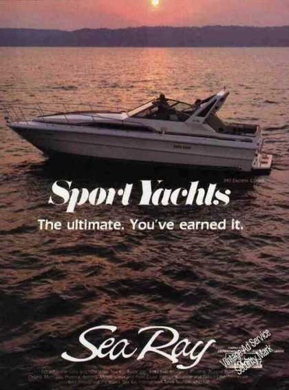 Sea Ray Sport Yachts Photo You've Earned It (1985)