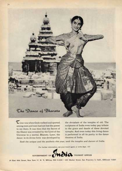 India Tourist Dance of Bharata (1960)