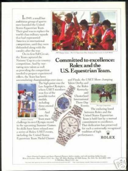 USET U.S Equestrian Team Rolex Watch Photo (1988)