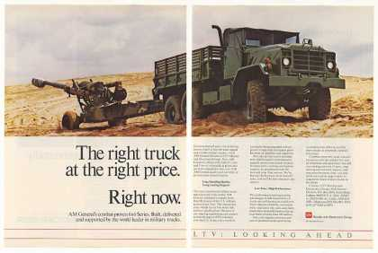LTV AM General 6x6 Military Truck Photo (1987)