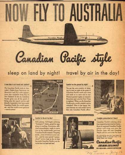 Canadian Pacific Air Line's Australia – Now fly to Australia (1949)