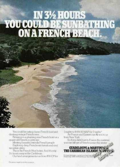 Guadeloupe & Martinique Beautiful Beach Photo (1975)