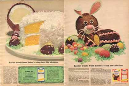 General Foods Bakers Easter Treats – Two page (1963)