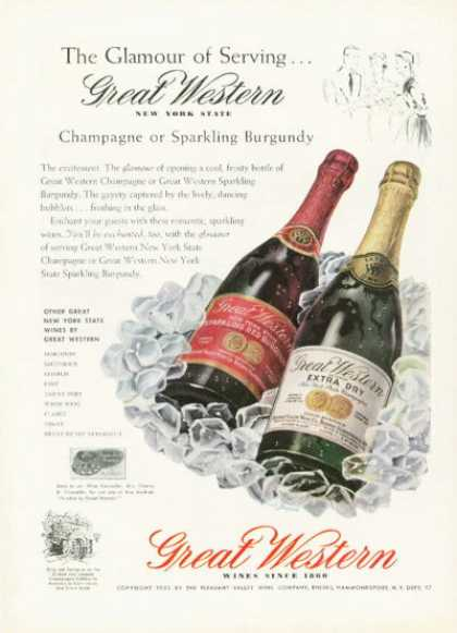 Great Western New York Champagne Wine (1955)