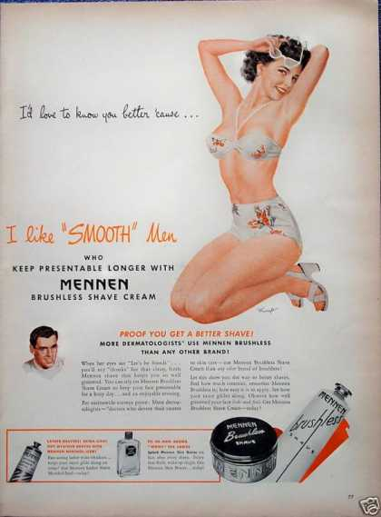 Mennen Shave Cream Sexy Bikini Lady Smooth Mingo (1946)