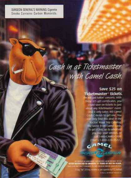 Camel Cigarette – Cash in at Ticketmaster (1996)