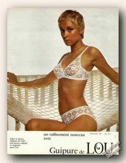 Guipure De Lou Lingerie French Fashion (1972)