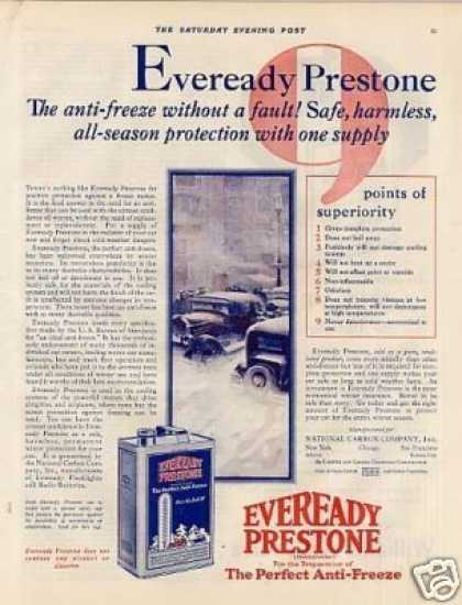 Eveready Prestone Anti-freeze Color (1928)
