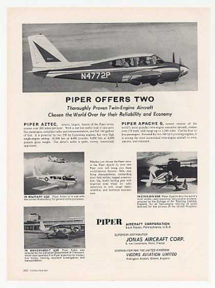 Piper Aztec & Apache G Aircraft Photo (1961)