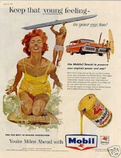 "Mobiloil Ad ""Keep That Young... (1958)"