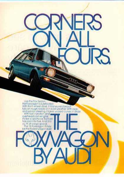 Audi Car – The Foxwagon – Blue (1976)