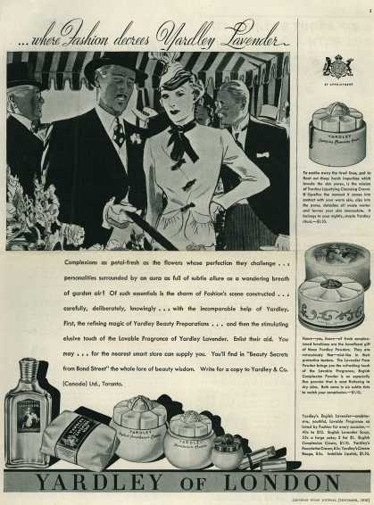 Yardley & Co., Ltd.'s Yardley's English Lavender – ...where Fashion decrees Yardley Lavender (1938)