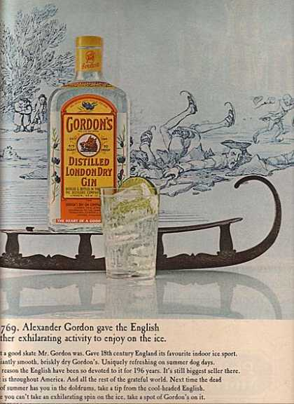 Gordon's Distilled London Dry Gin (1965)