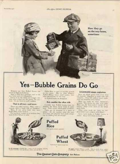 Quaker Puffed Rice & Wheat Cereal (1921)