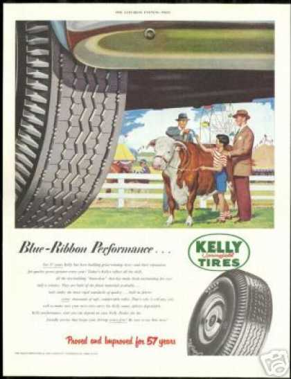 County Fair Prize Winning Bull Kelly Tire (1951)