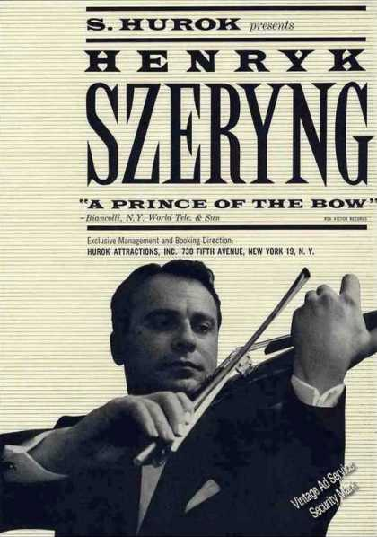 Henryk Szeryng Photo Violinist Trade (1962)