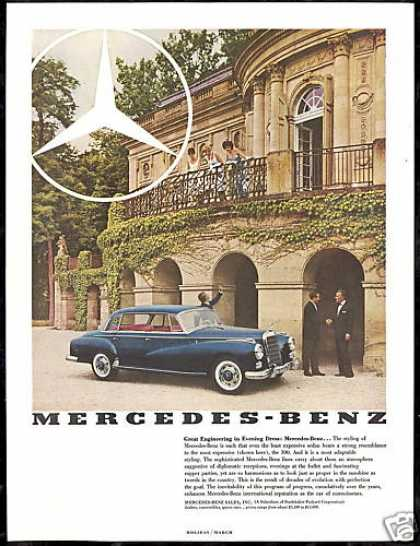 Mercedes Benz 300 Sedan Vintage Photo Print Car (1960)