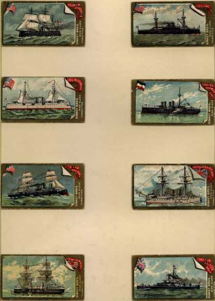 Kinney Bros.'s High Class Cigarettes – Naval Vessels of the World – Image 1