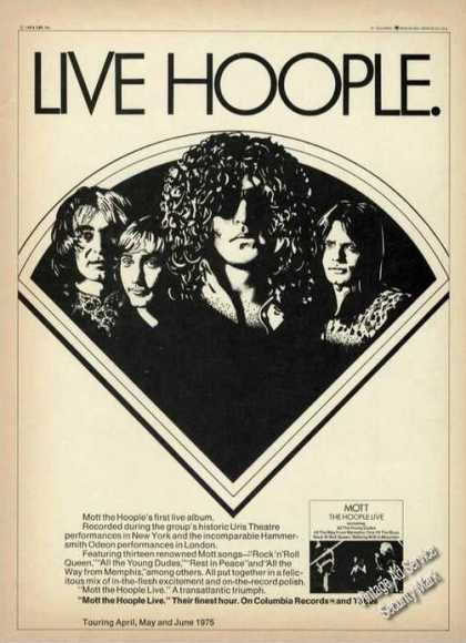 Live Hoople Drawing Music Album (1975)