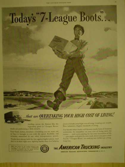 American Trucking Industry. Todays 7 League Boots (1949)
