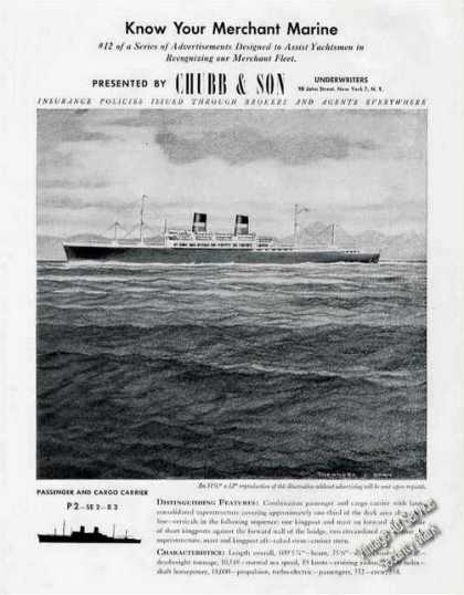 Know Your Merchant Marine Chubb & Son (1947)