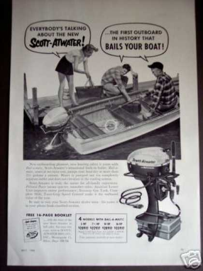 Scott-atwater Outboard Boat Motors Photo (1954)
