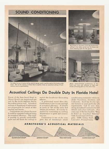 Sans Souci Hotel Miami FL Armstrong Ceilings (1953)