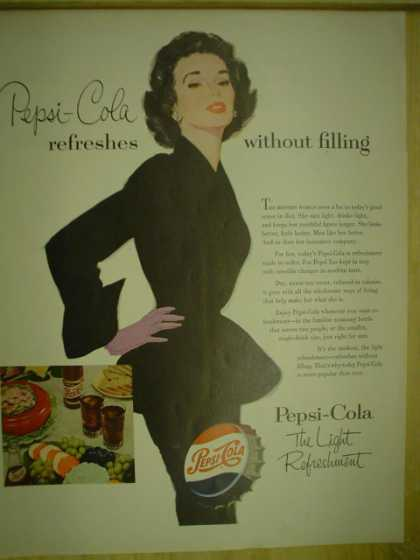 Pepsi Cola Refreshes without filling (1953)