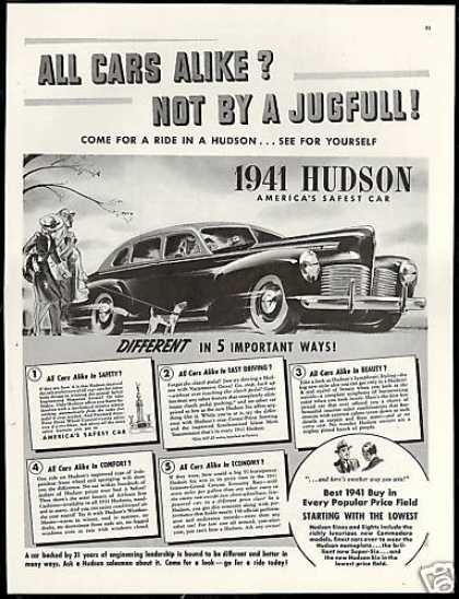 Hudson 4 Door Safest Car Vintage (1941)