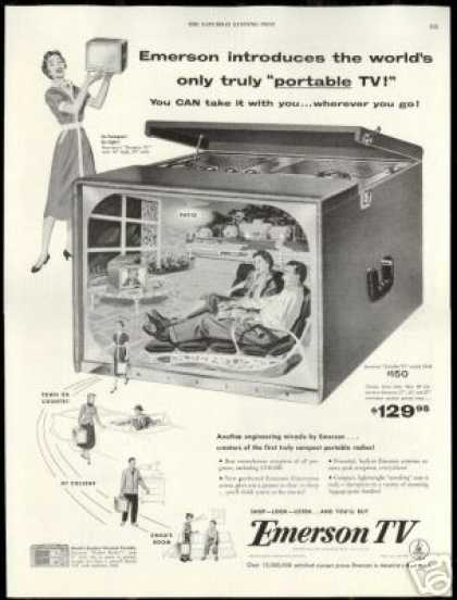 Emerson Portable TV Television Vintage (1954)