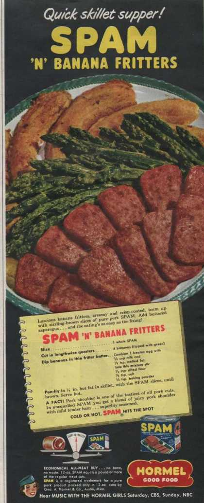 Spam and banana fritters