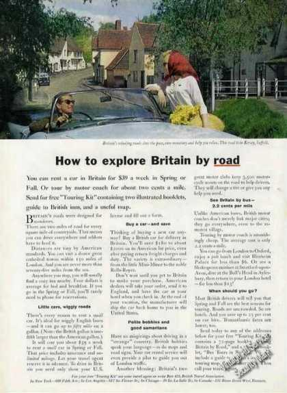 "Kersey Suffolk Photo ""Explore Britain By Road"" (1963)"