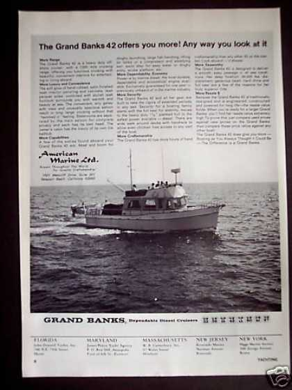 American Marine Ltd Grand Banks 42 Cruiser Boat (1971)