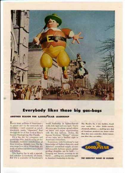 Goodyear – Thanksgiving Day Parade – Sold (1948)