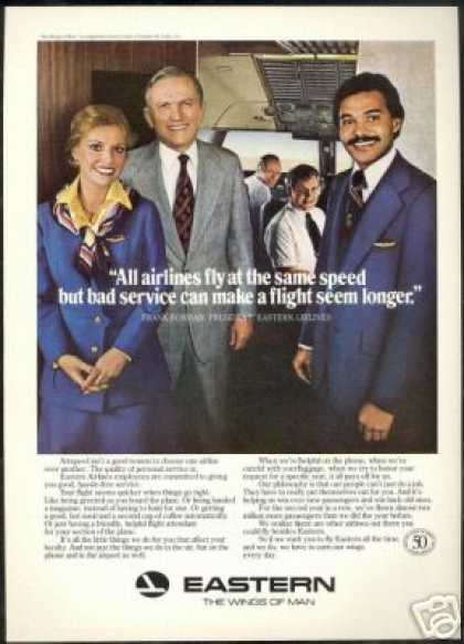 Eastern Airlines Steward Stewardess Borman (1978)