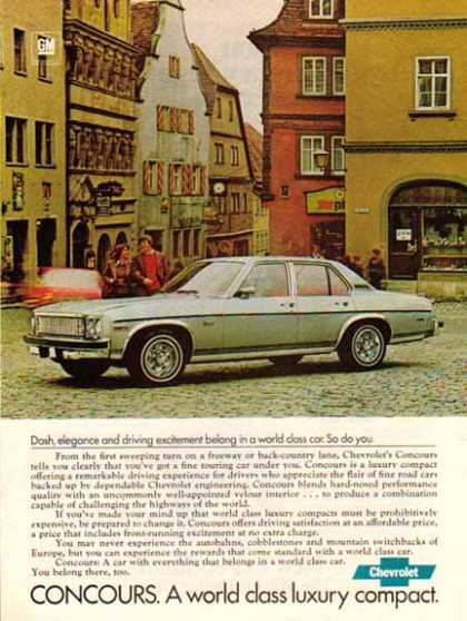 Chevrolet Car – Concour / Gray – GM (1977)