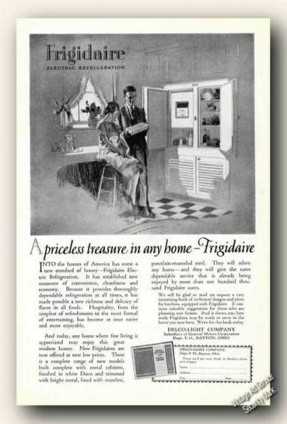 Frigidaire Refrigerator Art Priceless Treasure (1926)