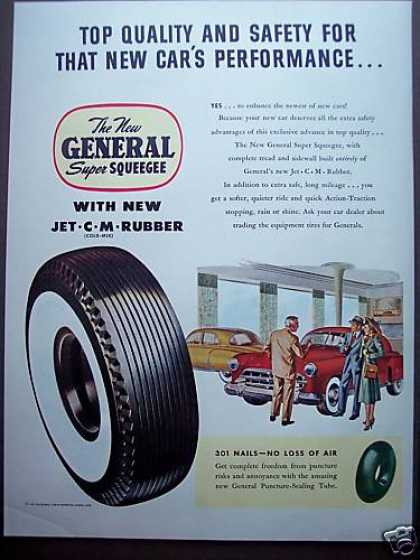 General Super Squeegee Puncture Sealing Tires (1949)