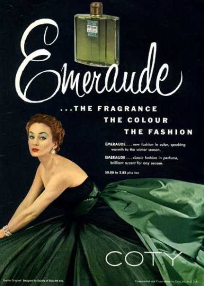 Coty Emeraude Perfume Bottle (1952)