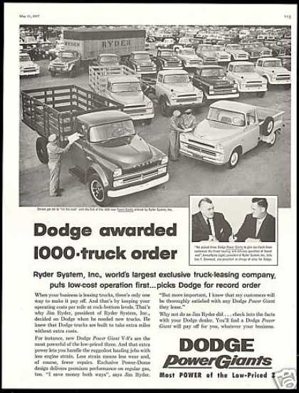 Dodge Trucks Ryder System Inc Power Giants (1957)